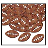 Fanci-Fetti Footballs (brown) Party Accessory  (1 count) (1 Oz/Pkg)
