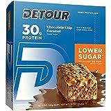 Detour Lower Sugar Protein Bars, Chocolate Chip Caramel, 85 gram (Pack of 12)