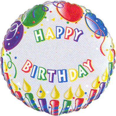 PIONEER BALLOON COMPANY 71326 Birthday Candles Name Balloon Pack, 18""
