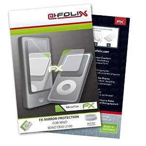 atFoliX Película Protectora Espejo WND Wind DUO 2100 - Set de 1 - FX-Mirror con efecto espejo
