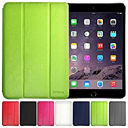 AirPlus AirCase Poromoric Leather Material Snap On Case for Apple iPad Mini (Florescent Green)