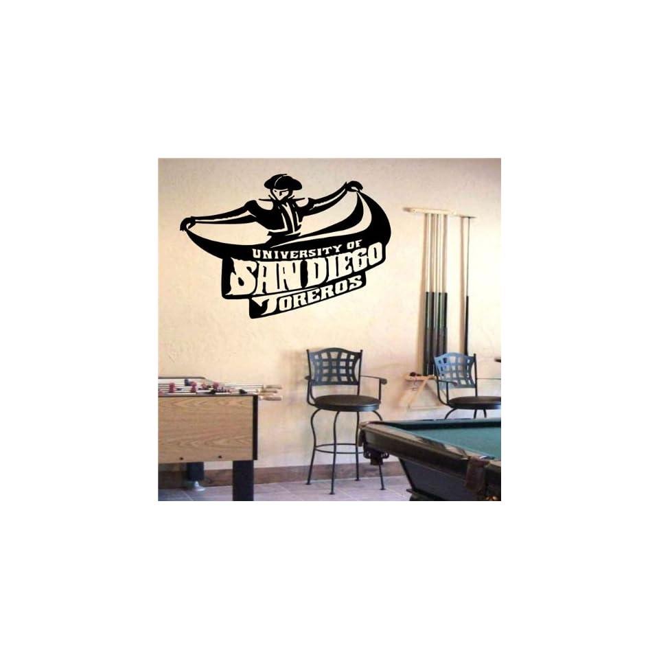 Ncaa Wall Mural Vinyl Sticker Sports Logos San Diego Toreros (S859)