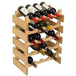 Wooden Mallet 20-Bottle Unfinished Dakota Wine Rack