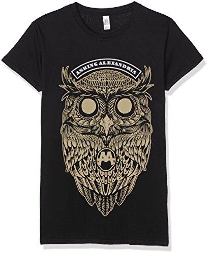 Asking Alexandria Owl Maglia donna nero L