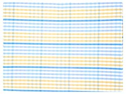 Crown-Fab Men's Shirt Fabric (Yellow and Blue Checked)