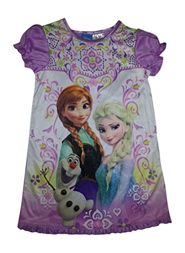 Disney Frozen Elsa & Anna Girls' Short Sleeve Nightgown