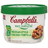 Campbell's Homestyle Healthy Request Mexican-Style Chicken Tortilla Soup, 15.3 Ounce Microwavable Bowls (Pack of 8) ~ Campbell's