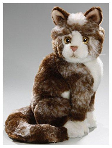 Katze sitzend braun aus Plüsch ca. 23cm von