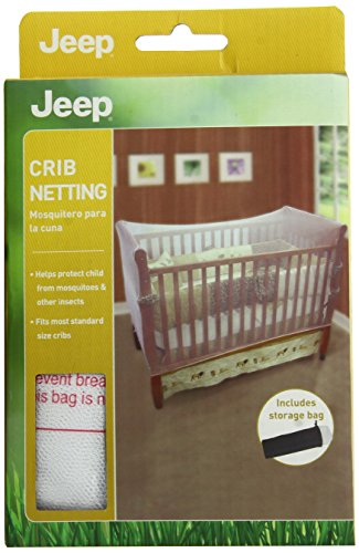 Jeep Crib Netting, Infant Crib Protector, Crib Net, Insect Protector, Mesh, White