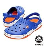 MS-big crocs サンダル シーブル×オレンジ