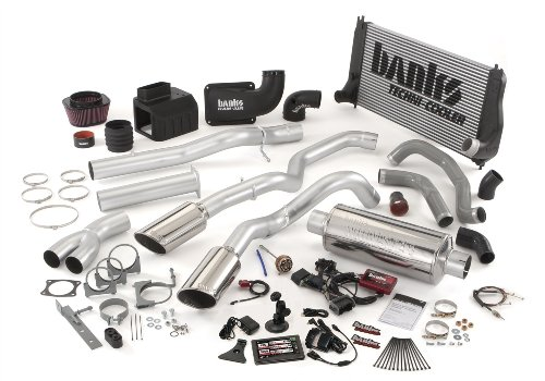 Banks Power 47716 Big Hoss Bundle; Performance System; Incl. Six-Gun Dsl Tuner/Banks iQ/Banks Ram-Air Intake/Big HeadWastegate Actuator/Techni-Cooler Intercooler/Monster Exhaust; Duals;