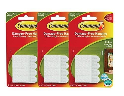 Command Picture Hanging Strips, Small, White, 8-Strips Each, 3 pack (Small Picture Hangers compare prices)