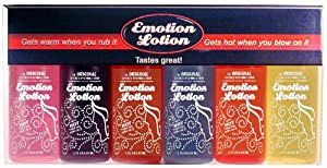 Emotion Lotion Edible Warming Massage Oil 6 BOTTLE GIFT SET CLASSIC
