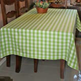 Green Block Check Tablecloth, 54 x 70