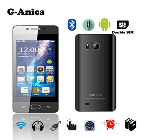 G-Anica 3.5 Zoll Smartphone (Unlocked Ohne Vertrag) Scratch pad PC Dual Core Dual SIM Phablet Android 4.4.2 2GB RAM 4GB ROM Bluetooth WIFI Schwarz