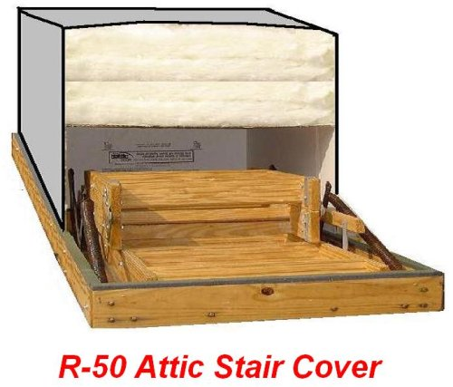 25x54 Attic Pull Down Stair Ladder Cover R 50 Insulation