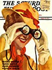MAGAZINE COVER WOMAN HORSE RACES BINOCULARS USA ART POSTER PRINT 18x24 INCH LV1993