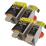 4 Kodak 30XL Compatible Ink Cartridges Combo Pack 30 Black + 30CL Colour For ESP C110 ESP C310 ESP C315 ESP Series C100 ESP Series C300 ESP Office 2150 ESP Office 2170 ESP Office Series 2100 Hero 3.1 Hero 5.1 AIO Printer