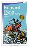 echange, troc Pierre de Ronsard - Discours, derniers vers