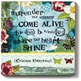 Demdaco Kelly Rae Roberts Come Alive Flower Wall Art, 6-Inch