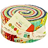 Moda The Sweet Life Prints Jelly Roll, 40 2.5x44-inch Cotton Fabric Strips