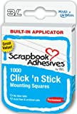3L Clickn Stick-1/2-Inch by 1/2-Inch Permanent Mounting Squares, White