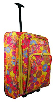 """Mens Womens On Board 21"""" Wheeled Suitcase Cabin Carry Case Flight Bag (Assorted Colours)"""
