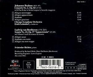 Brahms: Piano Concerto No. 2 / Beethoven: Piano Sonata No. 23
