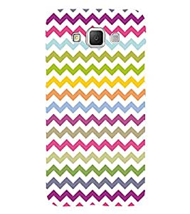 Colorful Zig Zag Pattern 3D Hard Polycarbonate Designer Back Case Cover for Samsung Galaxy Grand 3 G720 :: Samsung Galaxy Grand Max G720
