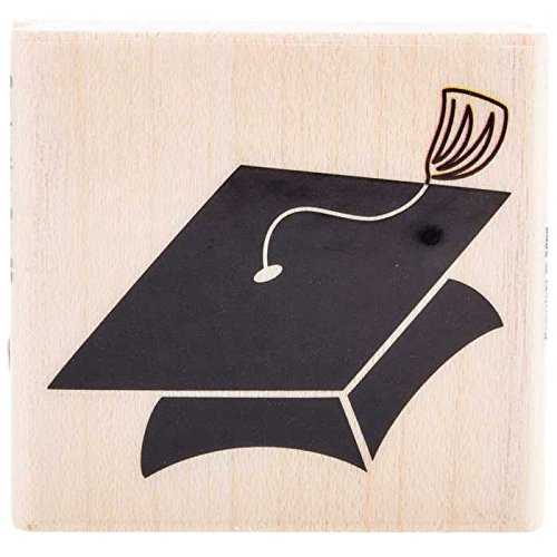 Graduation Cap Rubber Stamp