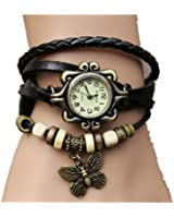 Viskey Original Women Vintage Watches,Bracelet Wristwatches Butterfly Pendant
