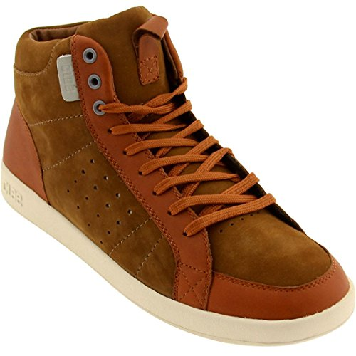 Clae Men's Russell High-Top Sneaker, Grizzly Caramel, 8 M US