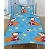 Noddy Rocket Junior Cot Bed Rotary Duvet Cover Set 120*150cm Newby Matching Bedroom Sets