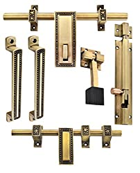 Klaxon Glorious 1 Brass Door Accessories Kit (Antique Finish)