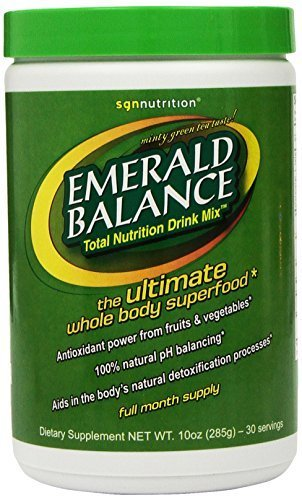Emerald Balance, Total Nutrition Drink Mix, Minty Green Tea Taste!, 10 oz (282 g) by SGN Nutrition