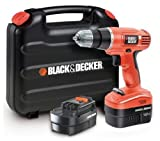 Black & Decker EPC12CABK-QW Trapano/Avvitatore, Doppia Batteria 12V, Valigetta