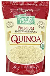 Nature's Earthly Choice Premium Organic 100% Whole Grain Quinoa, 2 Pound (Pack of 6)