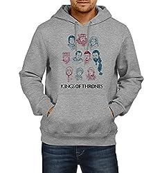 Fanideaz Men's Cotton King Of Thrones GOT Hoodies For Men (Premium Sweatshirt)_Grey Melange_L