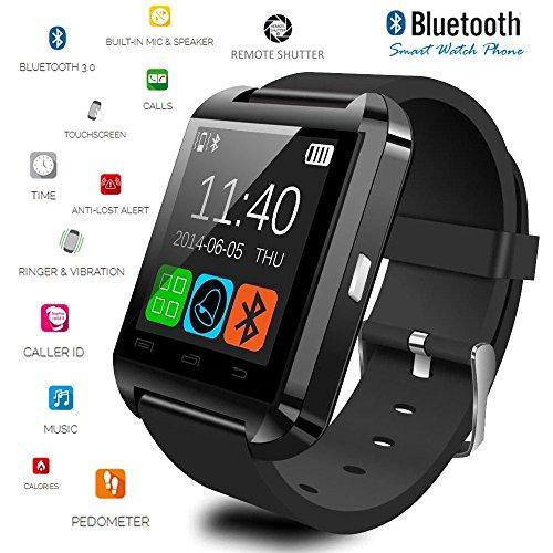 Indigi? Hot Smart Watch U-Watch Bluetooth Phone Foriphone 5S Samsung Android Htc Black