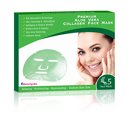 [Collagen Face Mask Anti-Aging Korean Beauty Skin Care with Aloe Vera] (Medical Related Costumes)
