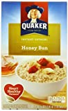 Quaker Instant Oatmeal, Honey Bun, 10-Count Boxes (Pack of 4)