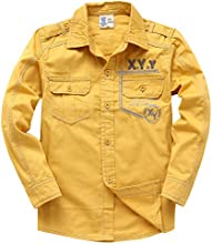XiaoYouYu Big Boy39s Solid Color Cool Soft Button Shirts