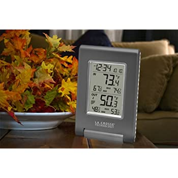 La Crosse Technology WS-9080U-IT Wireless IN/OUT Temperature Station featuring Atomic Self-setting time & MIN/MAX records