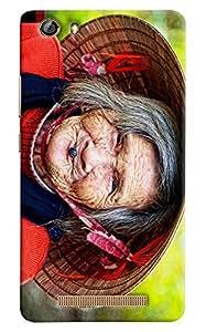 Omnam Old Japenese Lady Face Printed Designer Back Cover Case For Gionee Marathon M5 Lite