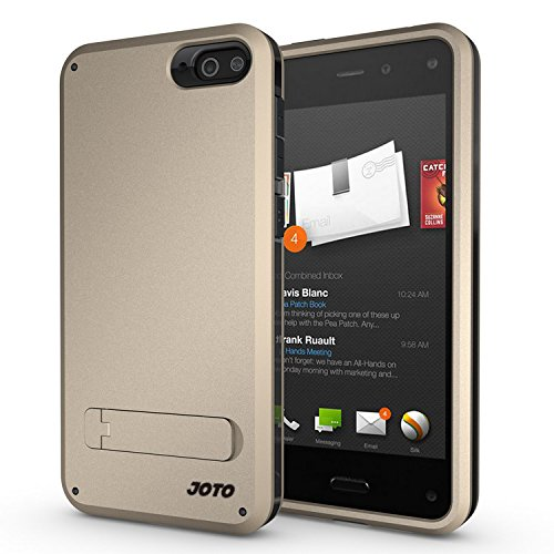 Joto Amazon Fire Phone Case - Hybrid Tri Layer Armor Cover Case With Kickstand (Flexible Tpu + Double Hard Pc), Exclusive For Fire Phone (2014) Att Unlocked (Gold, Black)