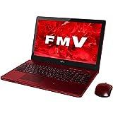 富士通 ノートパソコン FMV LIFEBOOK AH77/U ガーネットレッド(Office Home & Business Premium プラス Office 365) FMVA77UR