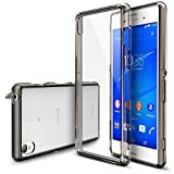 Xperia Z3 Case - Ringke FUSION [Free HD Film/Dust Cap&Drop Protection][SMOKE BLACK] Case Shock Absorption Bumper Premium Hard Case for SONY Xperia Z3 (Not for Z3 Compact / Z3 Dual) - Eco/DIY Package