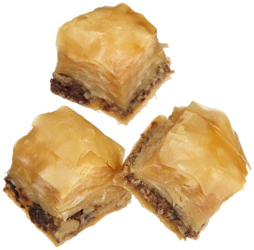 Sinbad Sweets Mini Honey Nut Classic Baklava (20 Piece), 14-Ounce Gold Gift Boxes (Pack of 3)