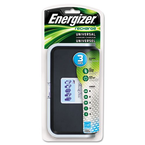 Energizer Products - Energizer - Family Battery Charger, Multiple Battery Sizes - Sold As 1 Each - Charges AA, AAA, C, D and 9V batteries. - Recharges batteries in three to seven hours. - Contacts auto-adjust. - LED status indicator. -
