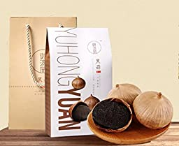 RioRand® YUHONGYUAN 150g Organic WHOLE Black Garlic contains approximately 850 mg S-allyl-cysteine per bulb Aged for FULL 90 days (5A FIRST CLASS Gift set One-clove garlic150g)